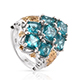 Paraiba topaz cluster ring for women.