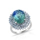 Discover stylish peacock quartz ring.