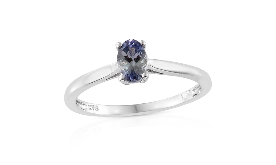 platinum tgw cts peacock size sterling tanzanite ring silver itm over