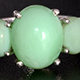Peruvian mint green opal three stone ring.