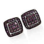 Purple Diamond Earrings.