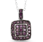 Purple Diamond Necklaces & Pendants.