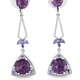 Purple fluorite dangle earrings.
