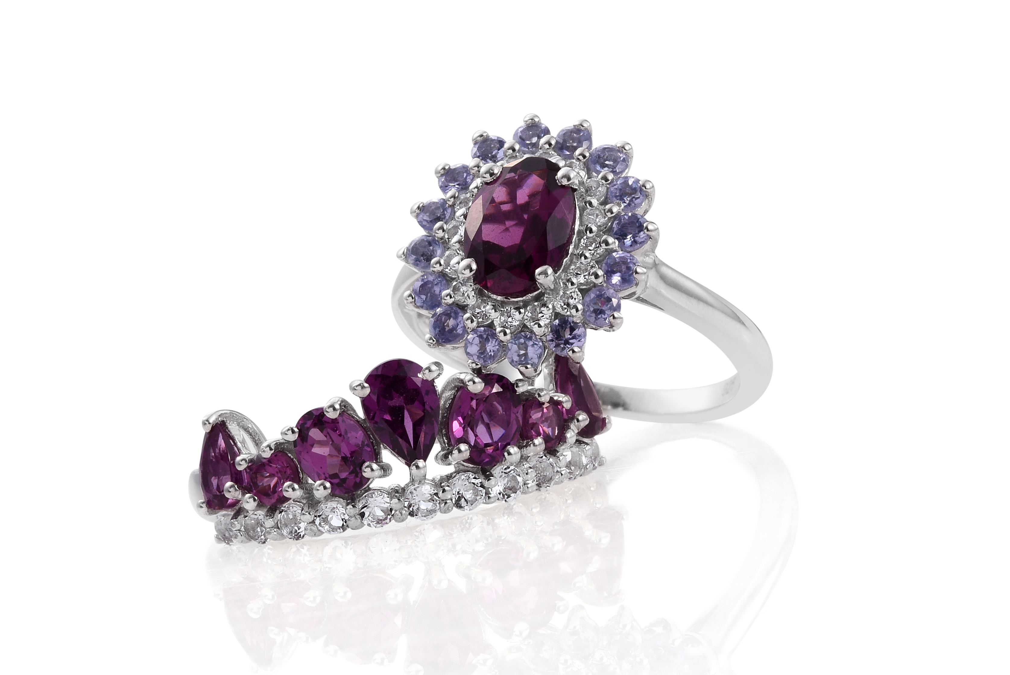 garnet diamond rhodolite ring engagement emerald ori details cut rings