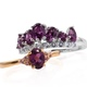 Purple garnet set of rings for women.