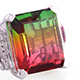 Rainbow Genesis Quartz ring for women.
