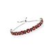 Red andesine hobo bracelet.
