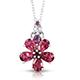 Rose danburite pendant with chain.