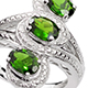 Chrome diopside ring.