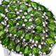 Chrome diopside cluster ring.