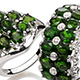 Chrome diopside rings.