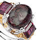 Russian eudialyte ring for women.