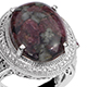 Russian eudialyte ring.