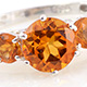 Santa Ana Madeira citrine five stone ring.