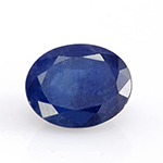 Kanchanaburi blue sapphire oval shape faceted gemstone.