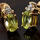Madagascar sphene stud earrings for women.