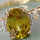 Madagascar sphene ring for women.