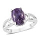 Siberian charoite ring for women.