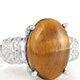 South African tiger's eye quartz ring.