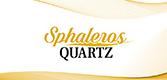 Sphaleros quartz gemstone logo.