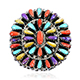 Multi color spiny oyster shell ring.