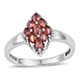 Sunset sapphire diamond shape cluster ring for women.