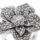Swiss marcasite floral ring.