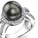 Tahitian pearl ring.