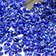 Oval shape faceted and sorted tanzanite gemstones.