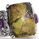 Tasmanian stichtite ring with filigree shank for women.