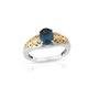 Teal kyanite ring for women.
