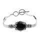 Thai black spinel tennis bracelet.