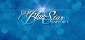 Diffused Thai blue star sapphire logo.