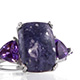 Utah Tiffany Stone ring in sterling silver for women.