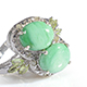 Utah variscite ring in sterling silver for women.