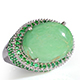 Utah variscite cocktail ring for women.
