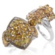 Yellow sapphire cluster rings for women.