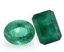 An emerald after polishing.