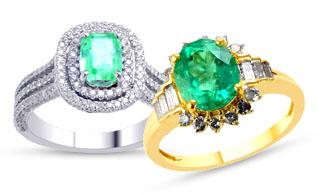 2 Emerald Rings
