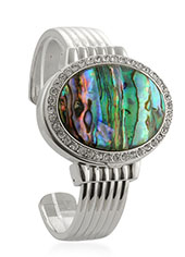 Natural Abalone embedded in a watch.