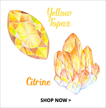 Yellow topaz, citrine - November birthstone jewelry.