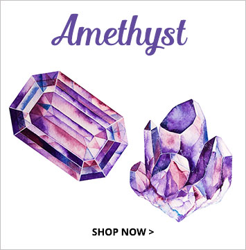 Amethyst - February birthstone jewelry.