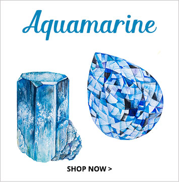 Aquamarine - March birthstone jewelry.