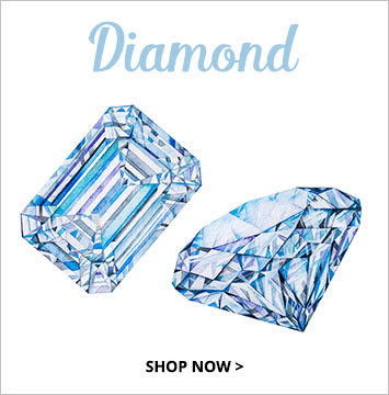 Diamond - April birthstone jewelry.