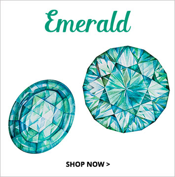 Emerald - May birthstone jewelry.