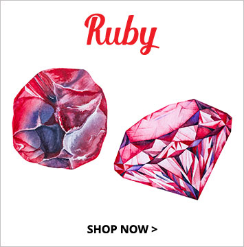 Ruby - July birthstone jewelry.