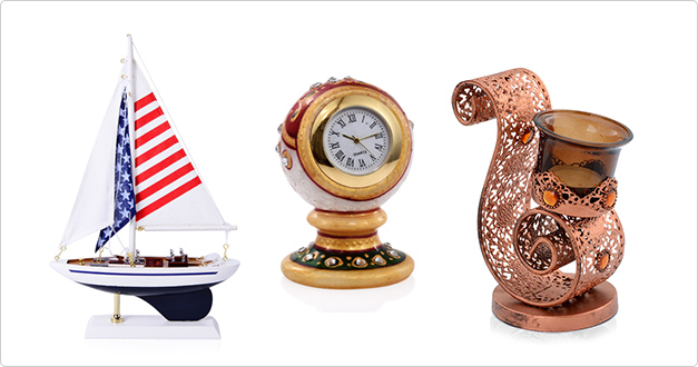 Find American flag sailing ship, table watch and candle holder at Shop LC.