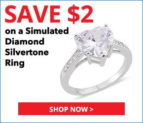 Simulated Diamond Silvertone Ring (Size 5.5) TGW 5.75 cts