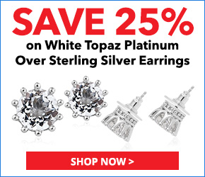 White Topaz Platinum Over Sterling Silver Earrings TGW 9.15 cts. 3066909