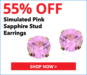 Simulated Pink Sapphire 14K YG Over Sterling Silver Stud Earrings TGW 0.75 cts.